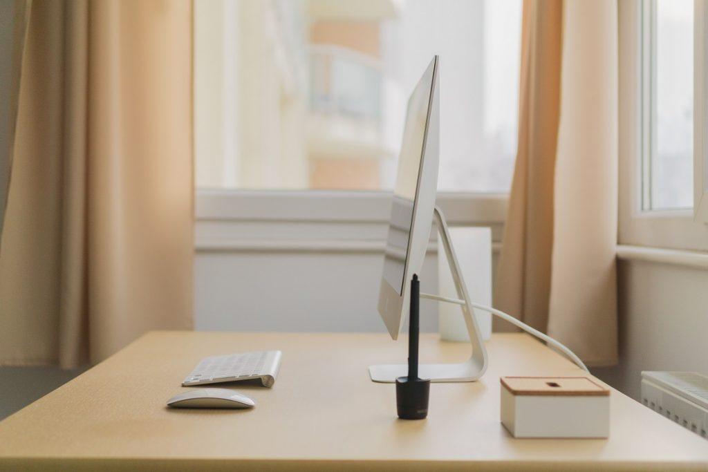 clean desktop area